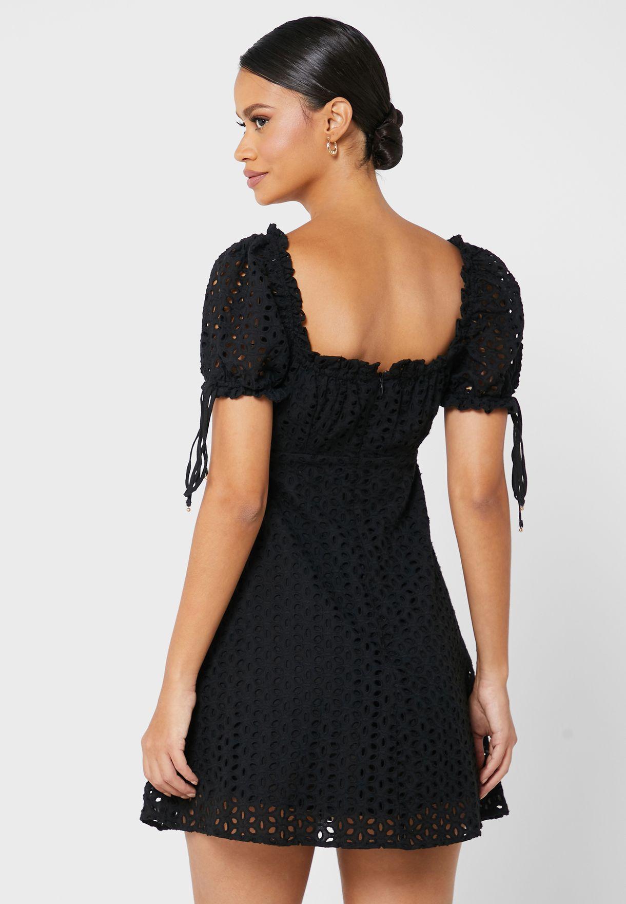 Maria Sweetheart Neck Dress