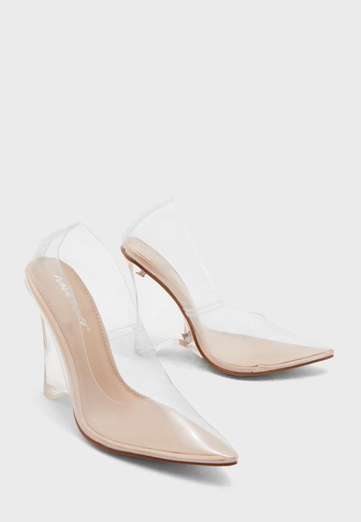 Encore High Heel Pump - Nude