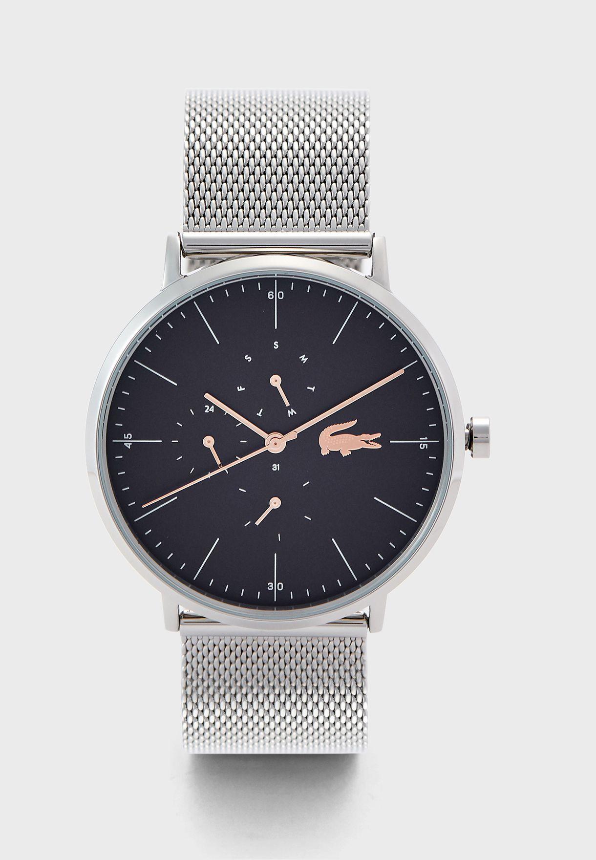 ساعة بحزام شبك