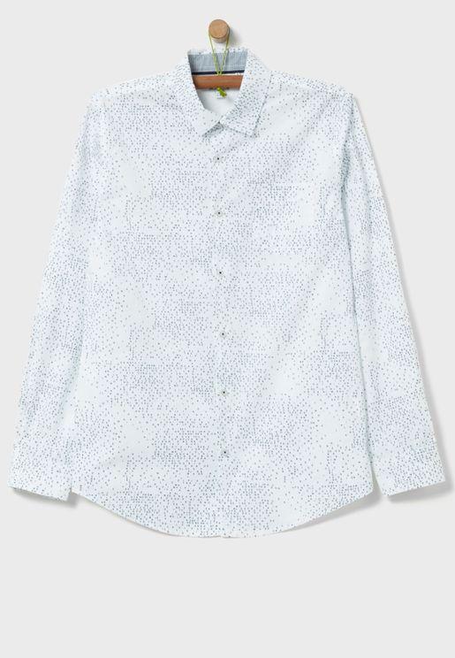 قميص بطبعات