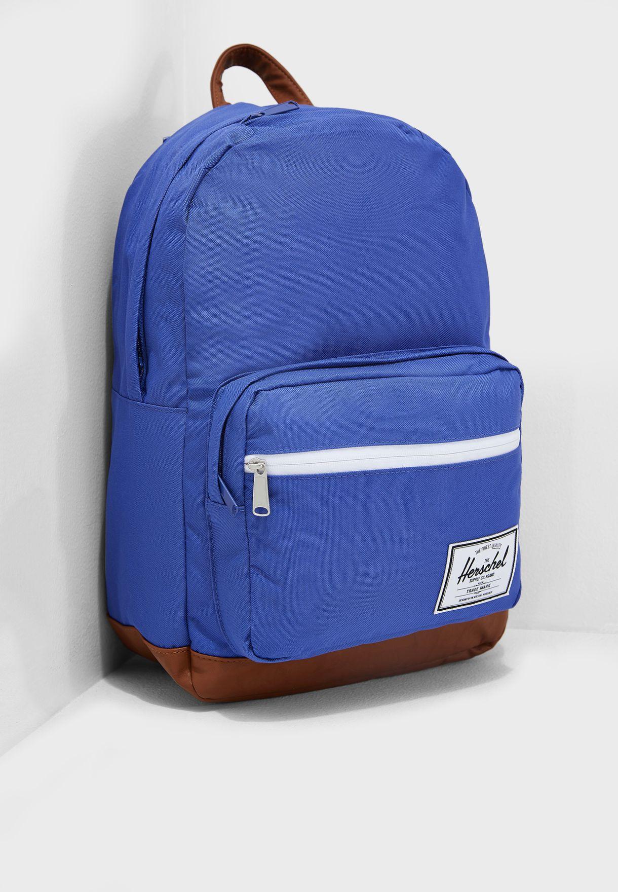 Shop Herschel blue Pop Quiz Backpack 10011-02327-OS for Women in ... 52966ec86bdfc
