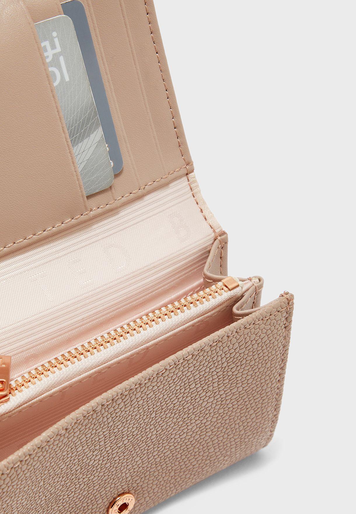 محفظة جلد اصلي مزينة بفيونكة