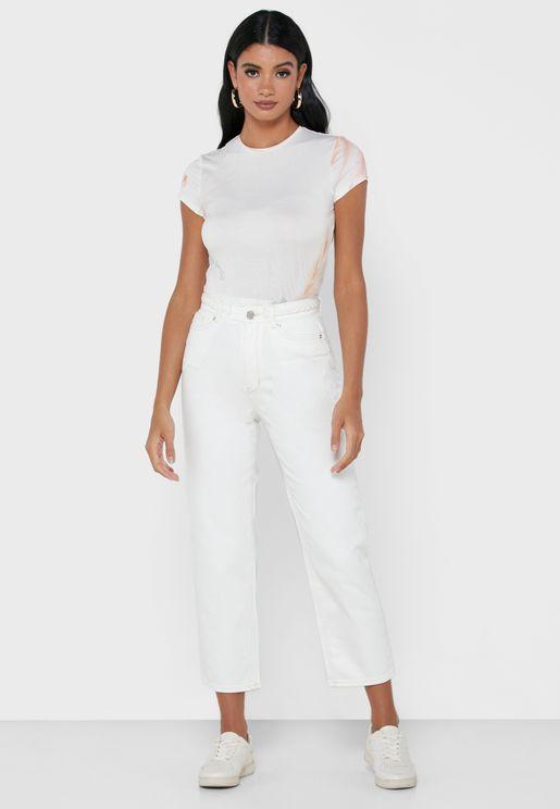 Platel Waistband Straight Jeans