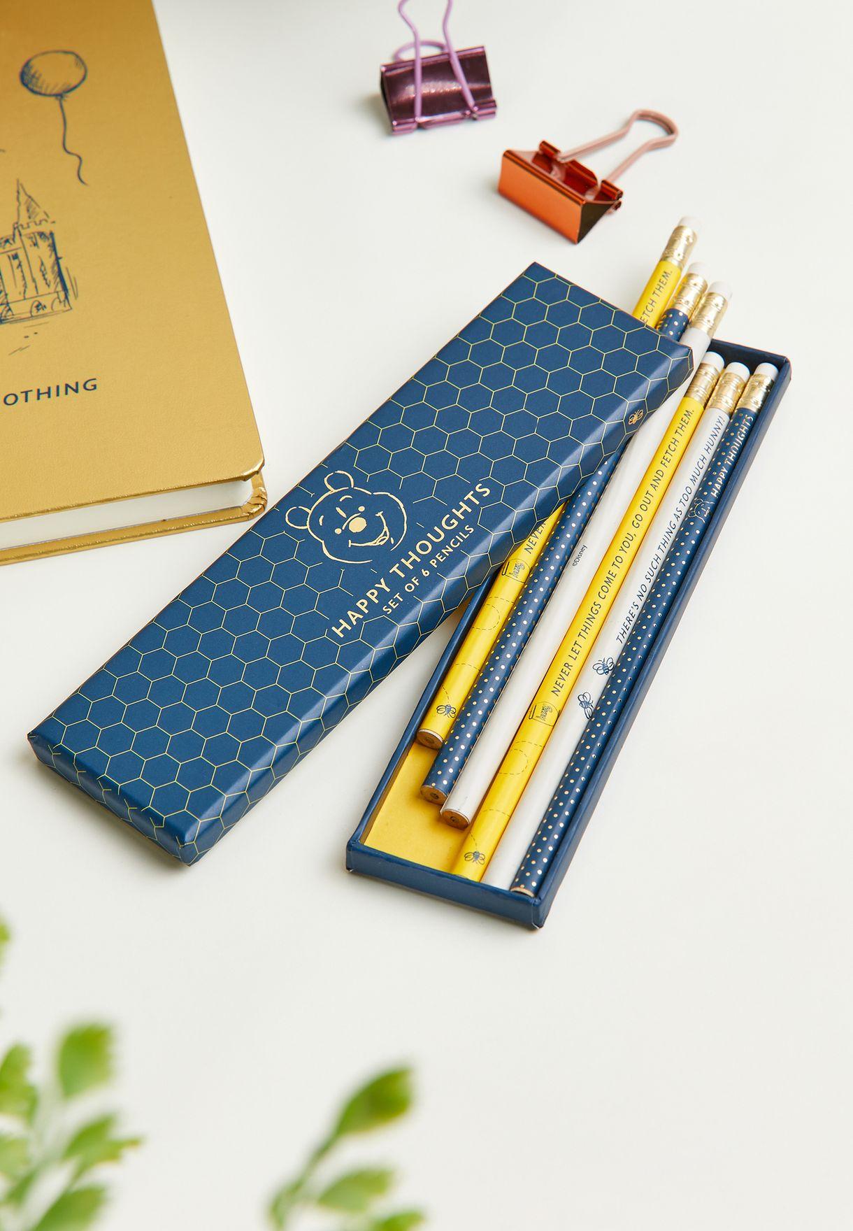 Set Of 6 Winnie The Pooh Pencils