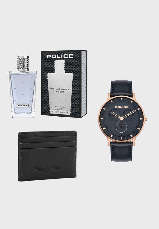 Watch+ Wallet + Perfume Gift Set
