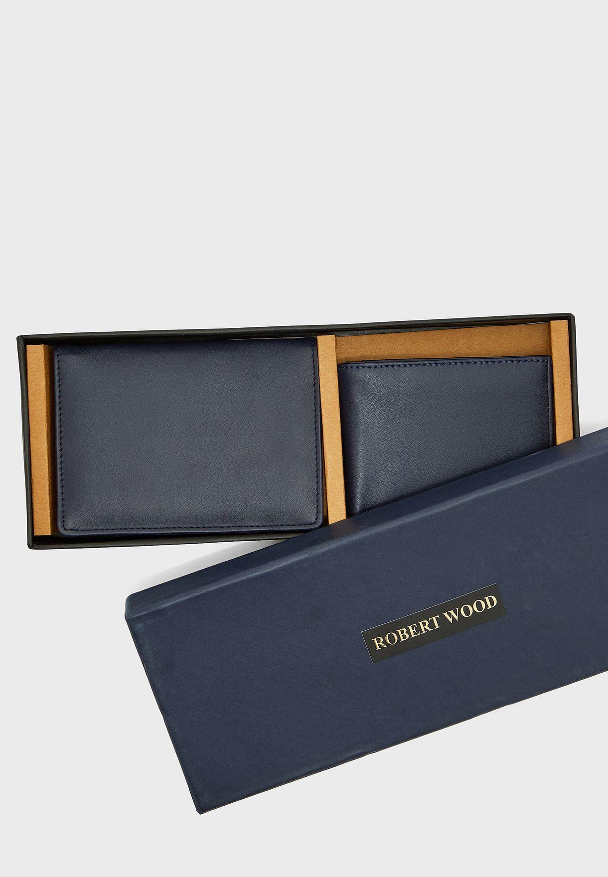 Wallet + Passport Cover Gift Set