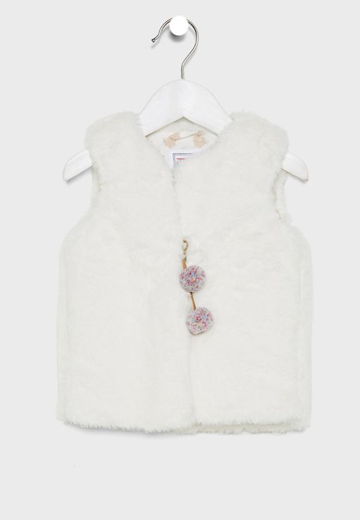 Kids Fur Detail Jacket