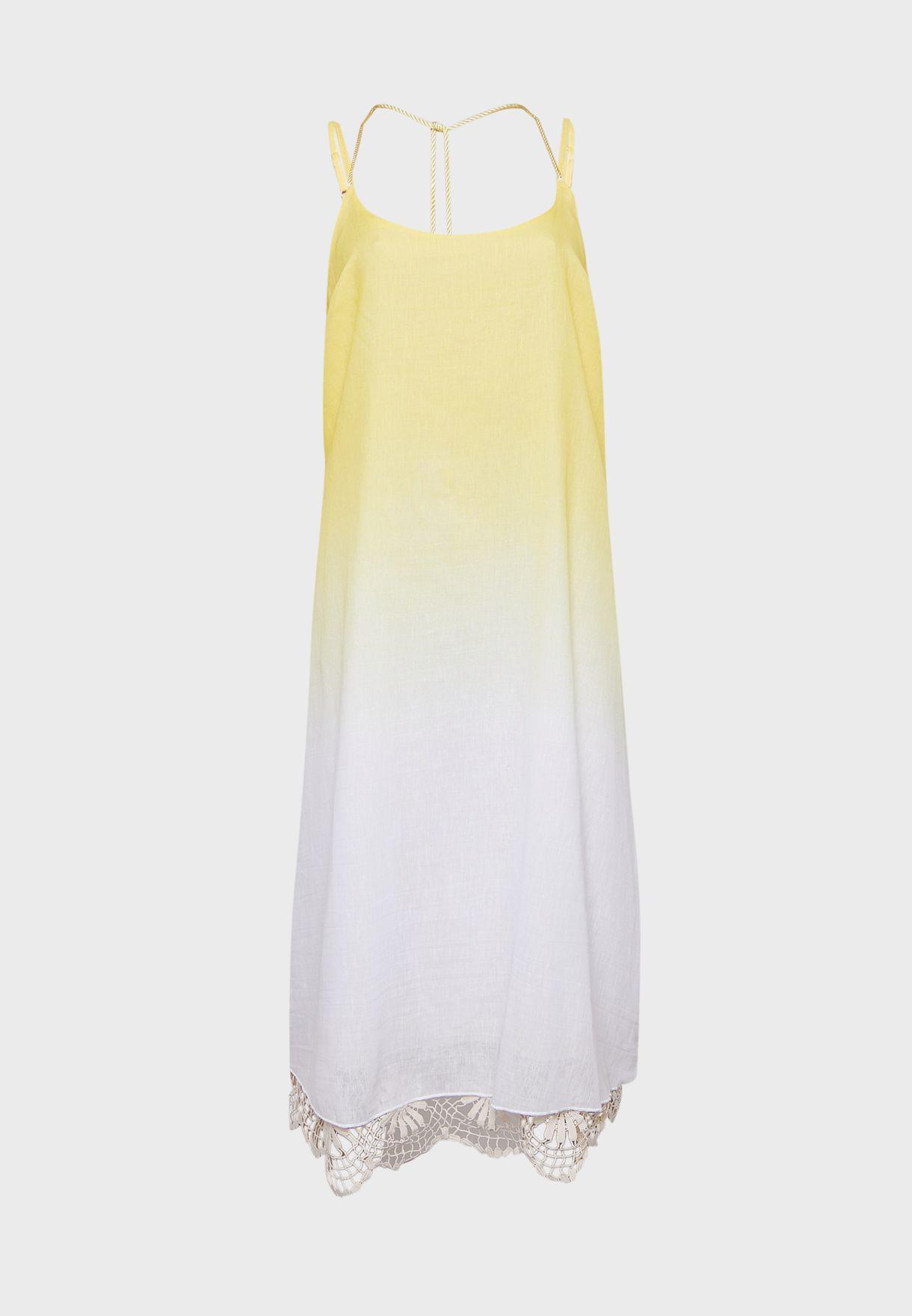 Ombre Crochet Midi Beach Dress