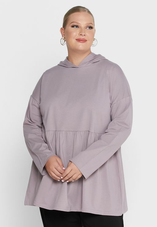 Point Collar  Hooded Tunic