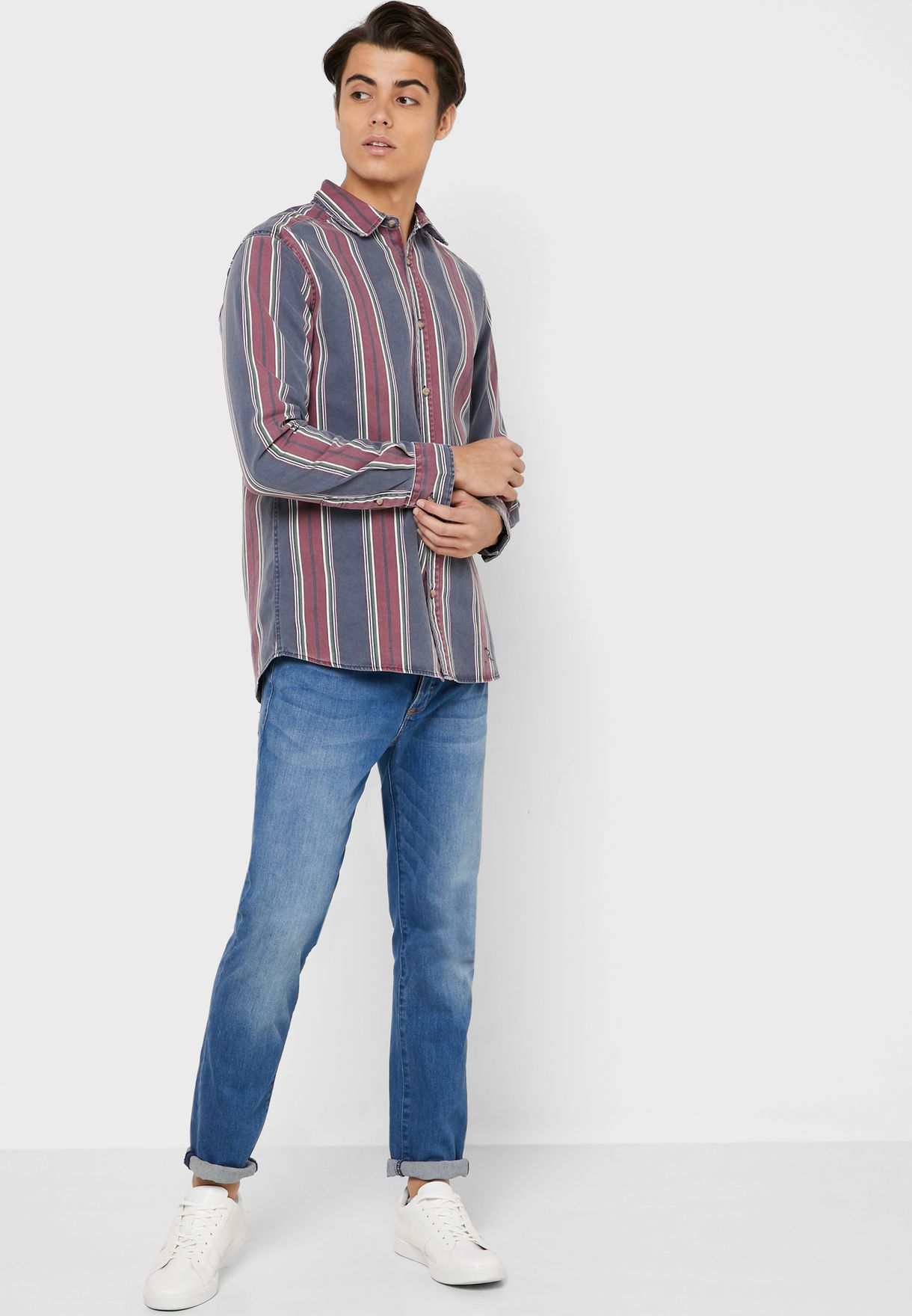 Kobe Striped Slim Fit Shirt