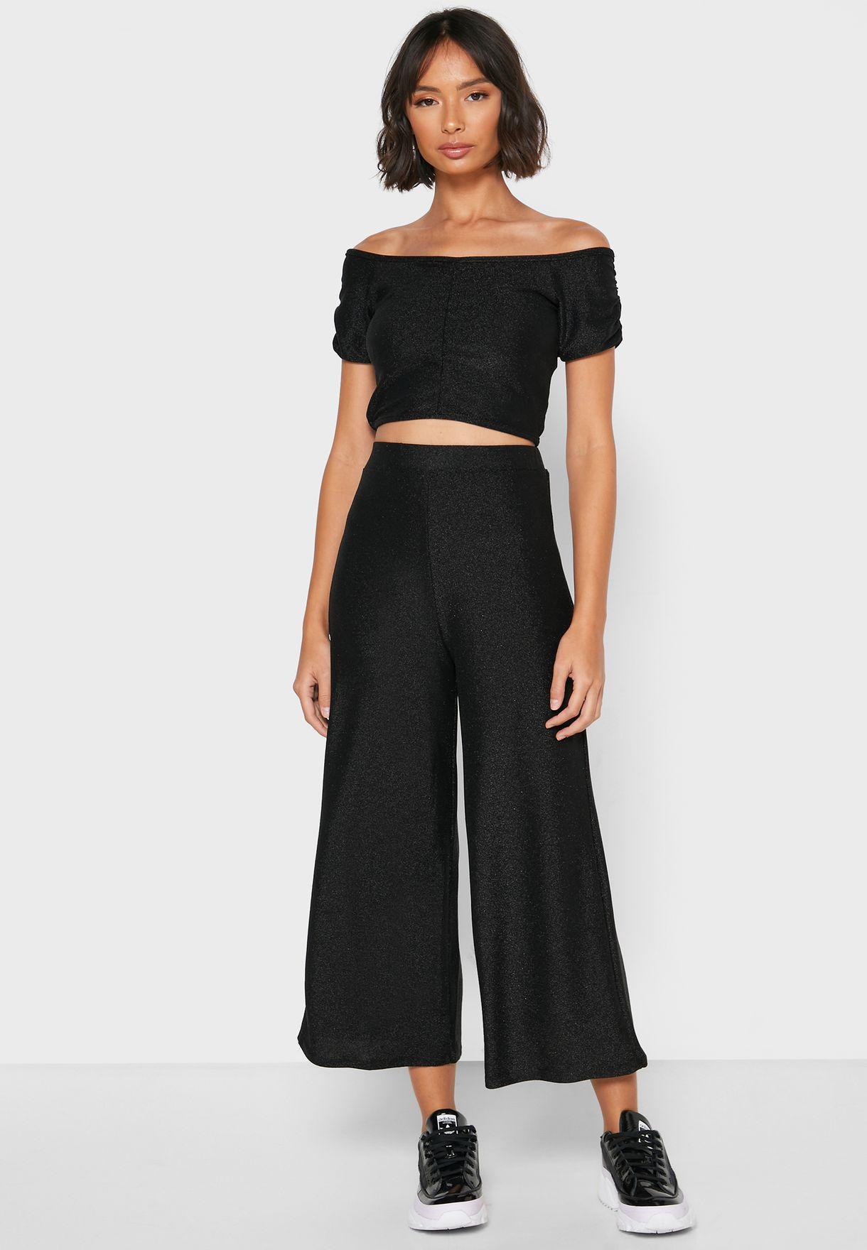 Lurex Midi Skirt Set