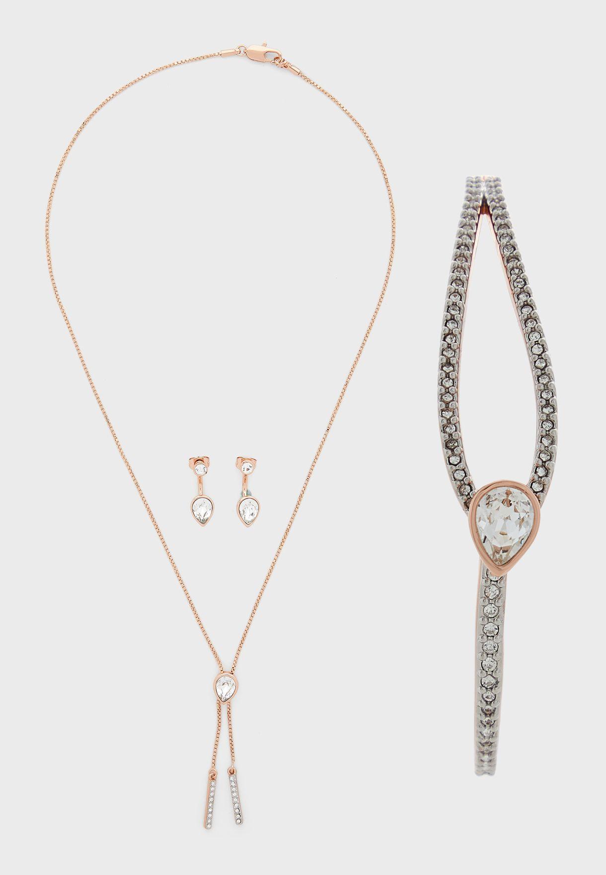 Hatton Necklace+Earrings+Bracelet Set