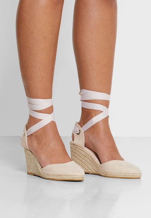 Winny Ankle Strap High Heel Wedge Pump