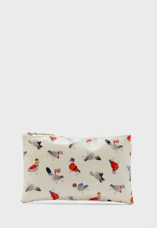 Printed Zip Detail Purse