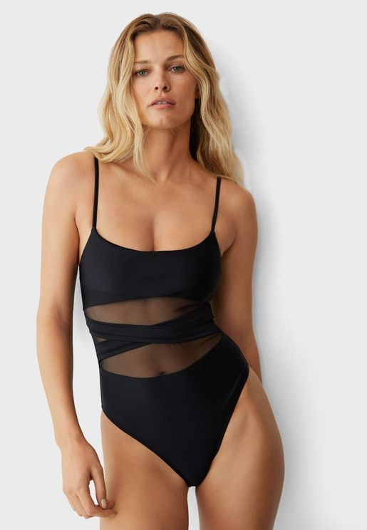 Mesh Detail Swimsuit