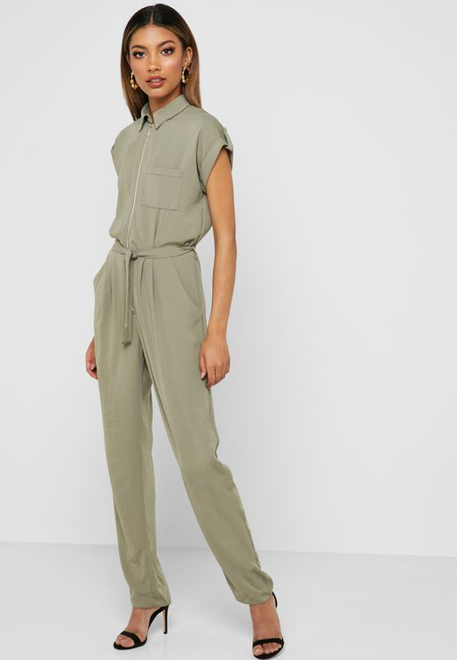 Tie Waist Boilersuit
