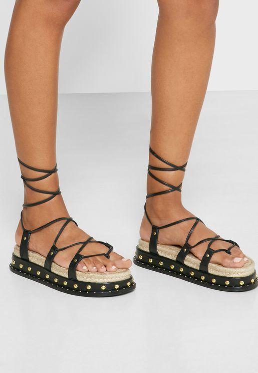 Pepper Multi Strap Flat Sandal