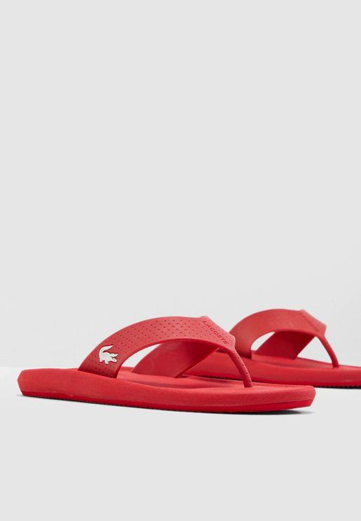 Croco Flip Flops