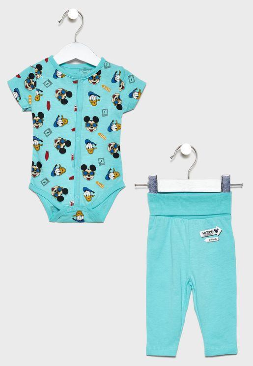 Kids Printed T-Shirt + Long Pyjama Set
