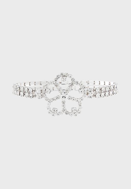 Kids Floral Sparkle Bracelet