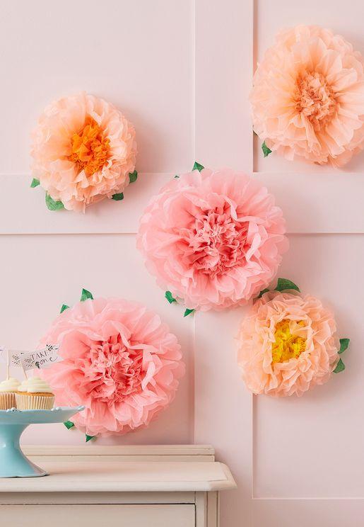Tea Party Flower Pom Poms