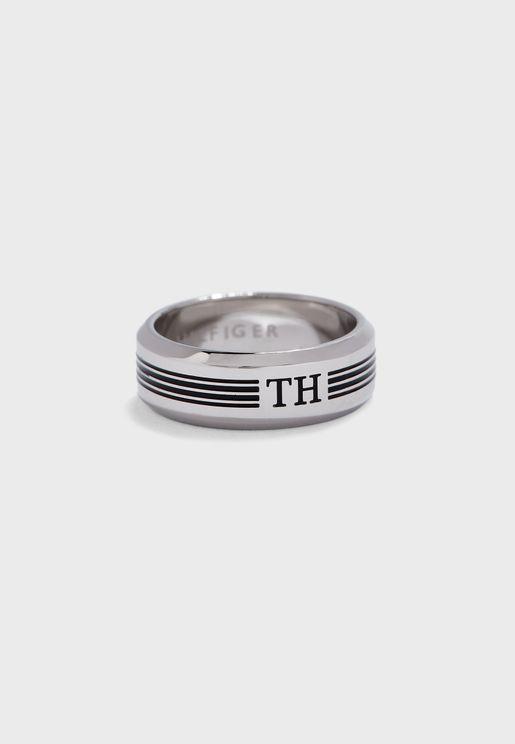 Logo Band Ring