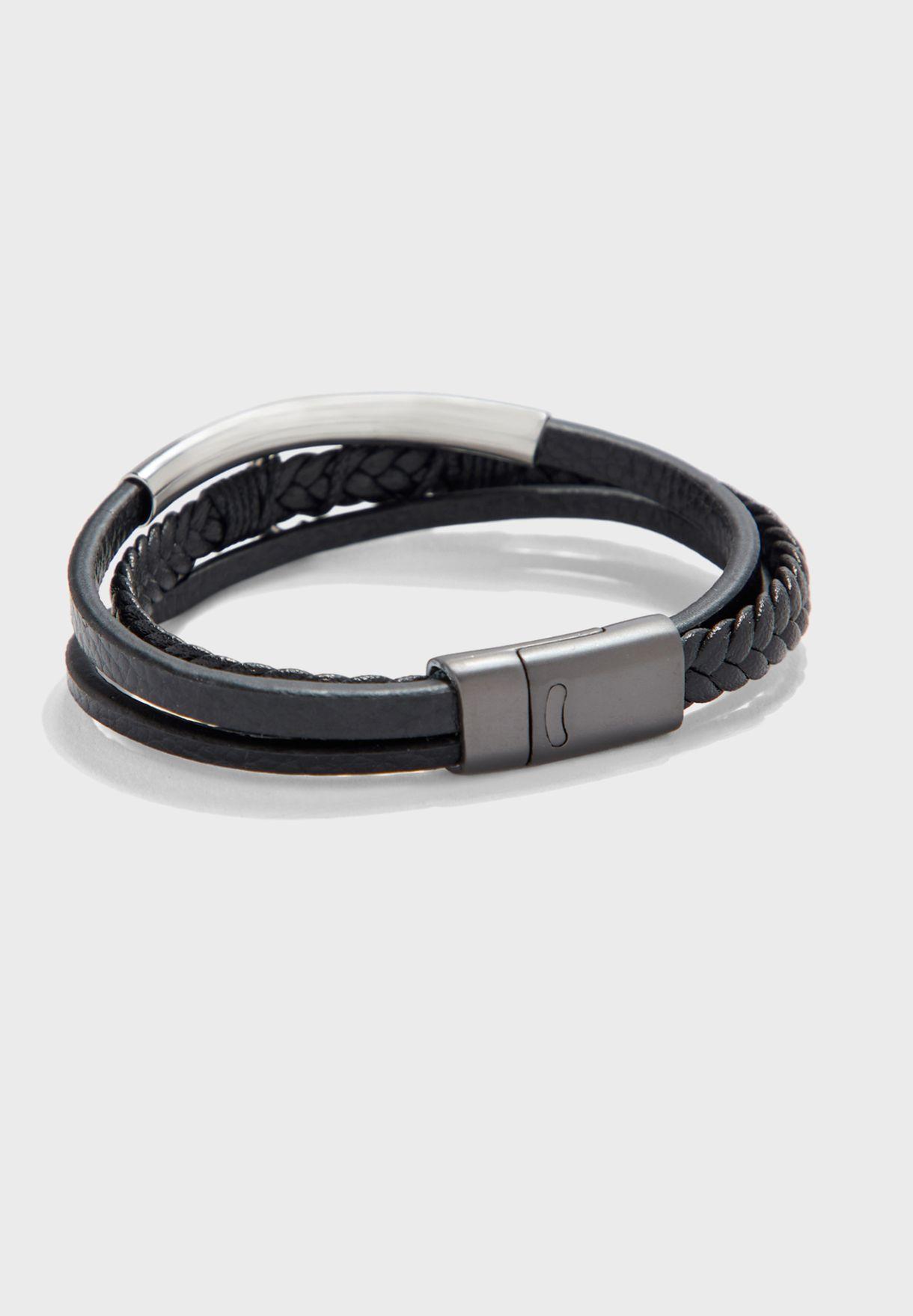 Anchor Detail Stack Bracelet