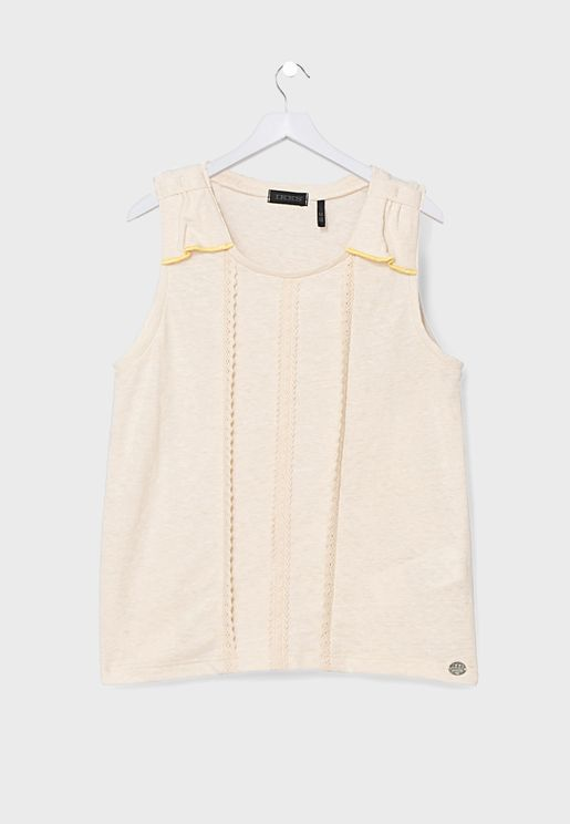 Kids Embroidered Tank Top