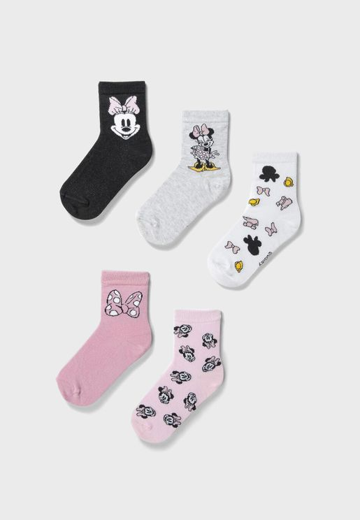 Kids 5 Pack Crew Socks