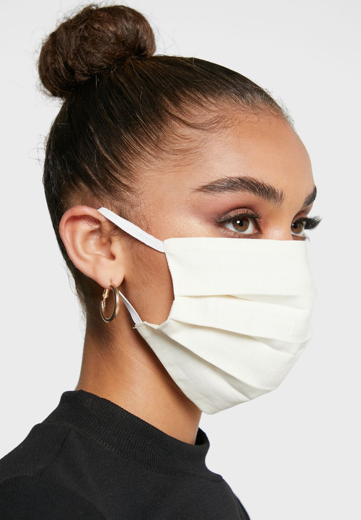 3 Pack Mixed Pleated Linen Masks