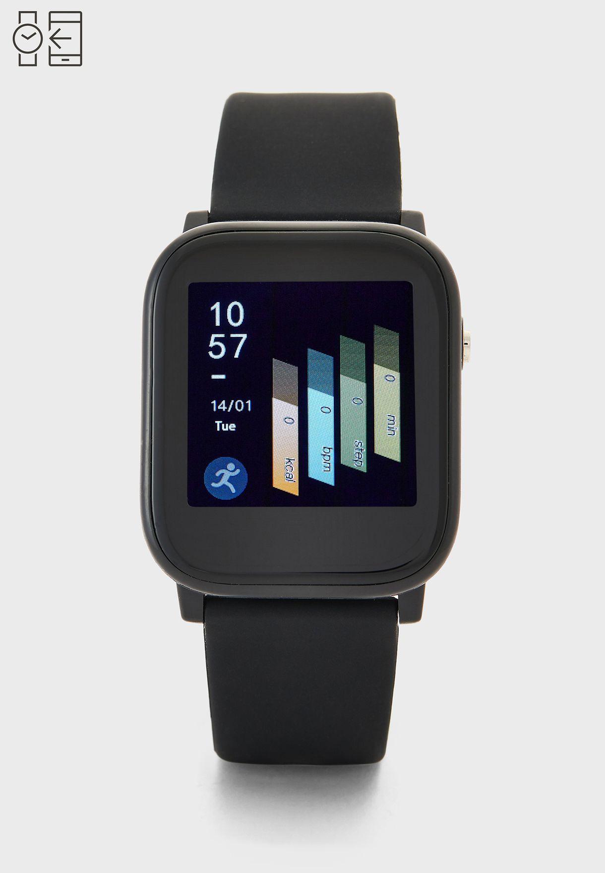 ساعة ذكية مع معدل ضربات القلب وضغط الدم والأكسجين