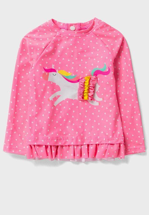 Infant Kids Heart Printed Top