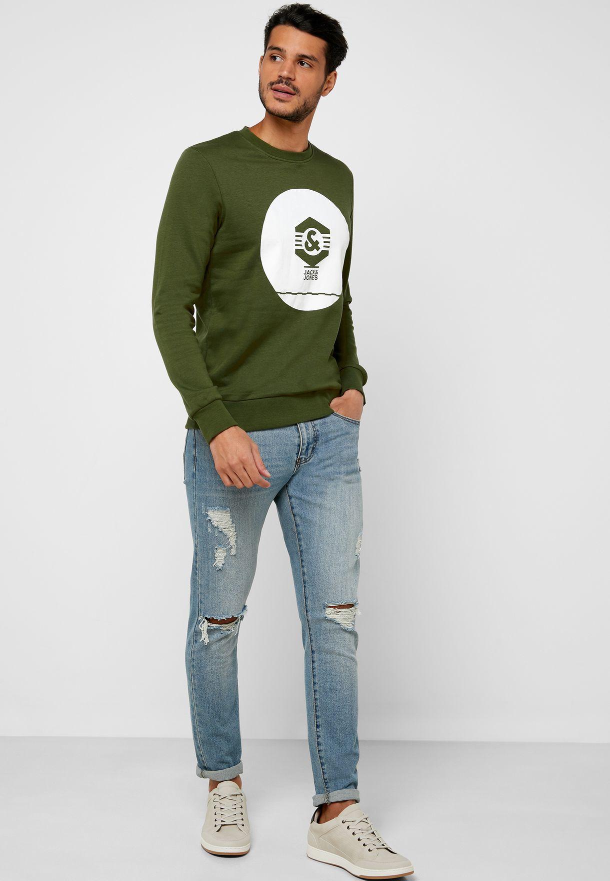 Box Logo Print Sweatshirt