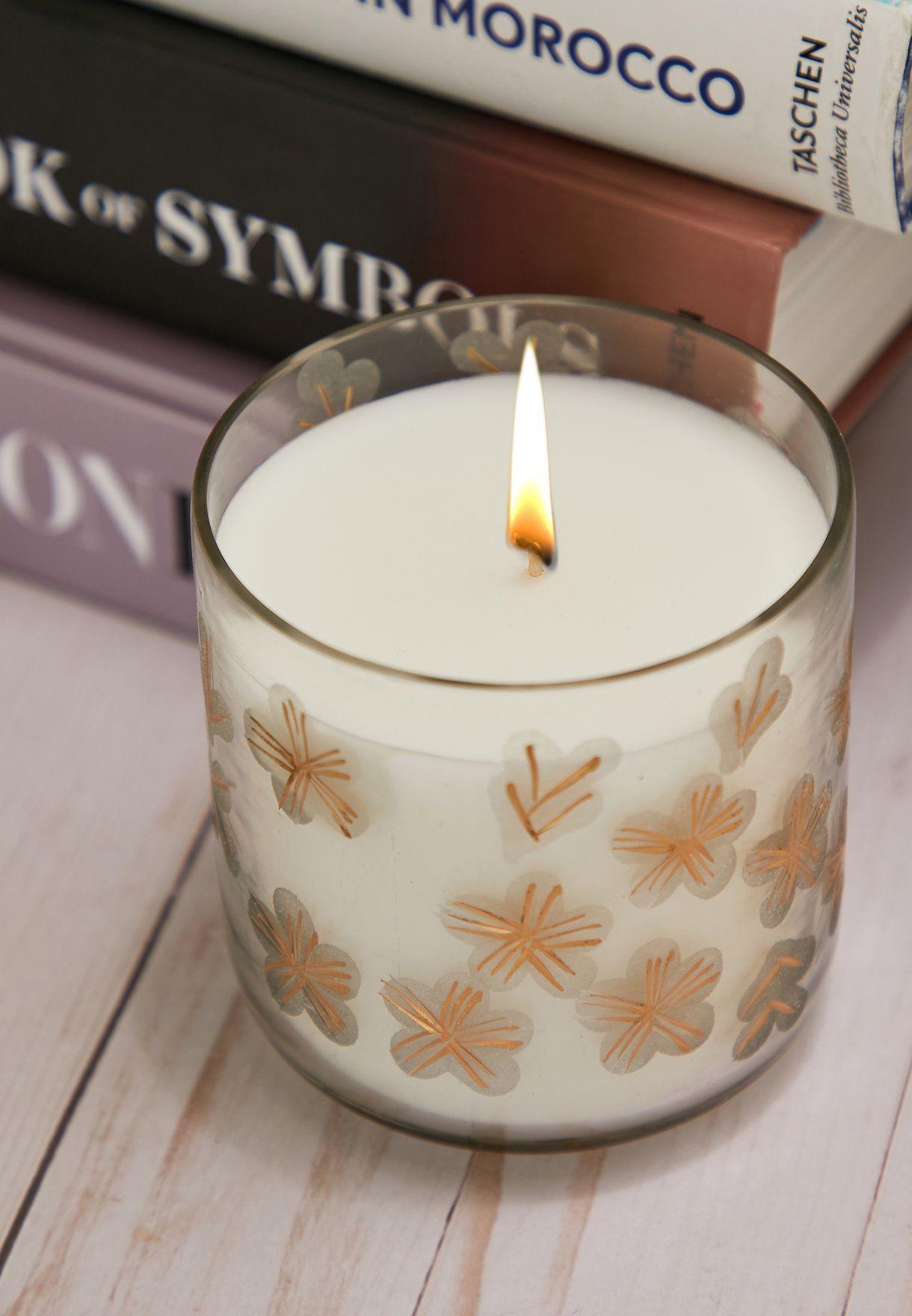 R Initial Scarlett Citrus Lumi Candle