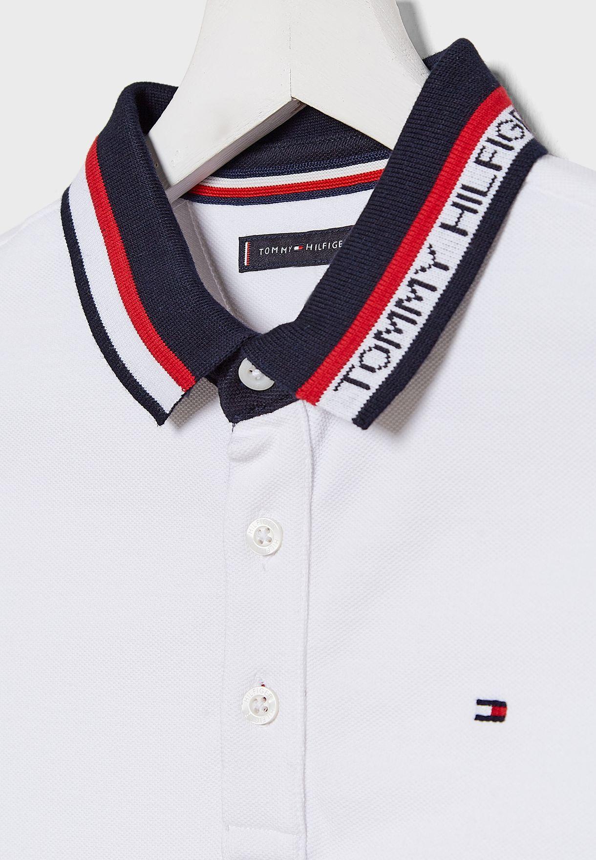 Teen Contrast Collar Polo