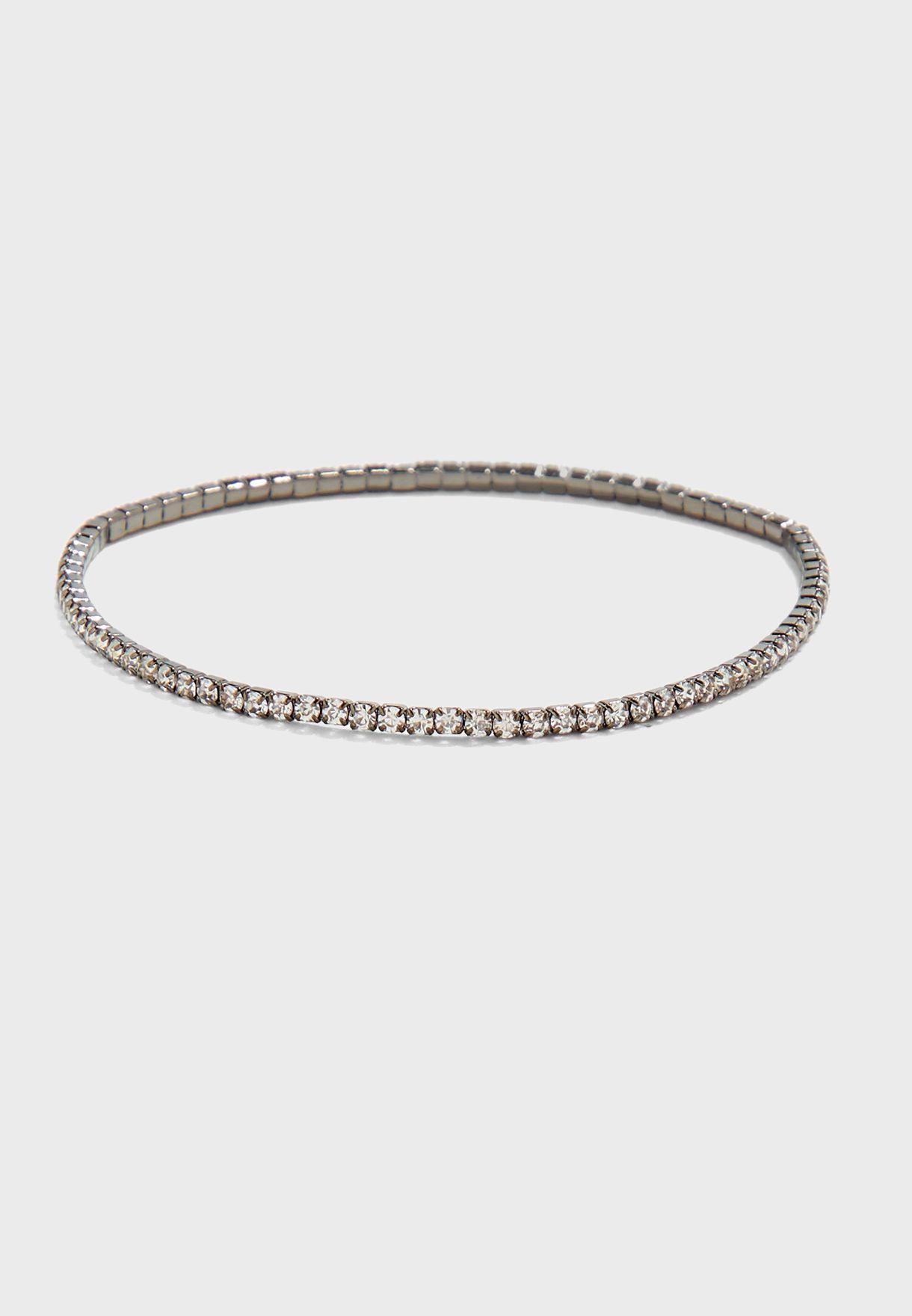 Barrel Stone Beaded Bracelet
