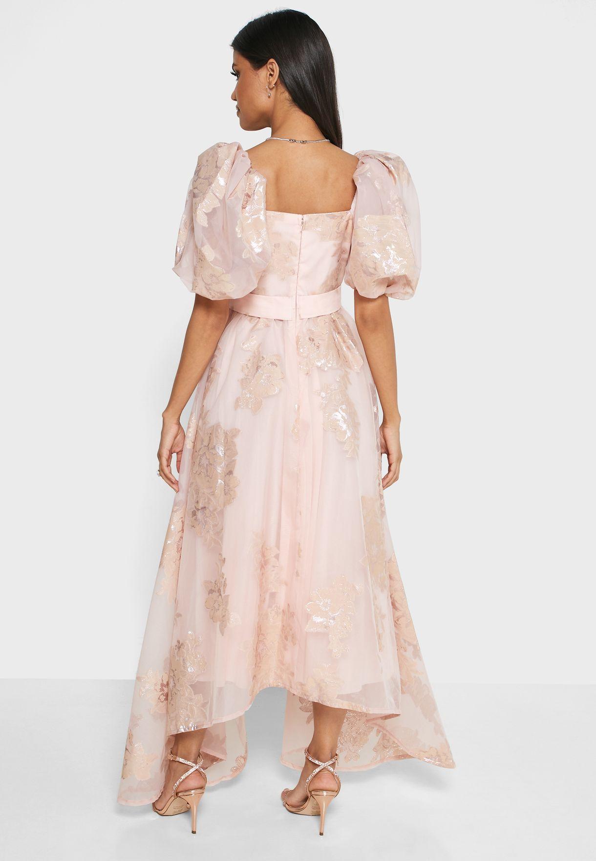 فستان اورجانزا بياقة قلب