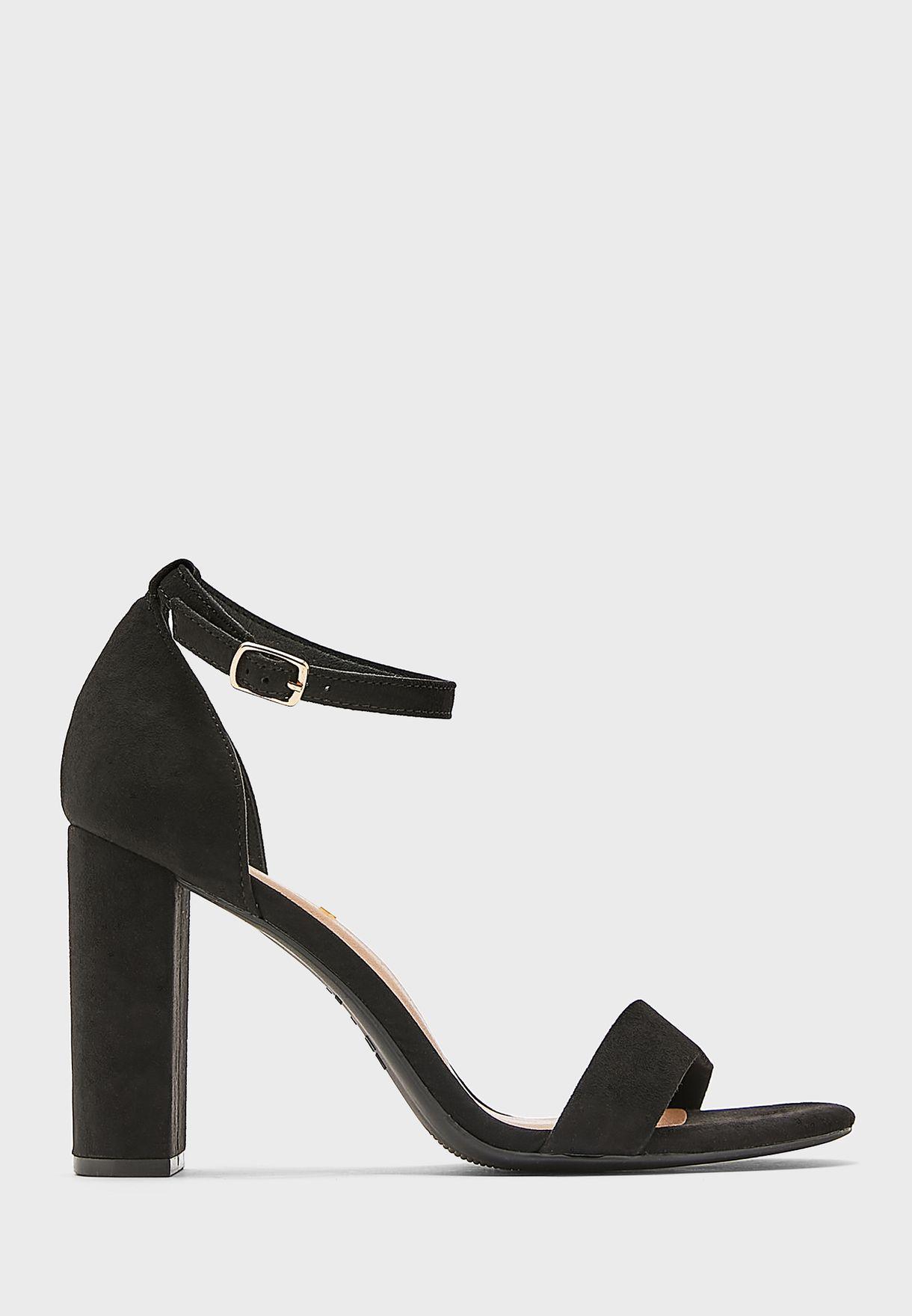 Wide Fit Ankle Strap High-Heel Sandals