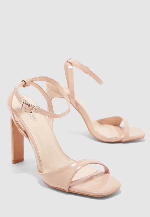 Asymmetric Barely There Sandal