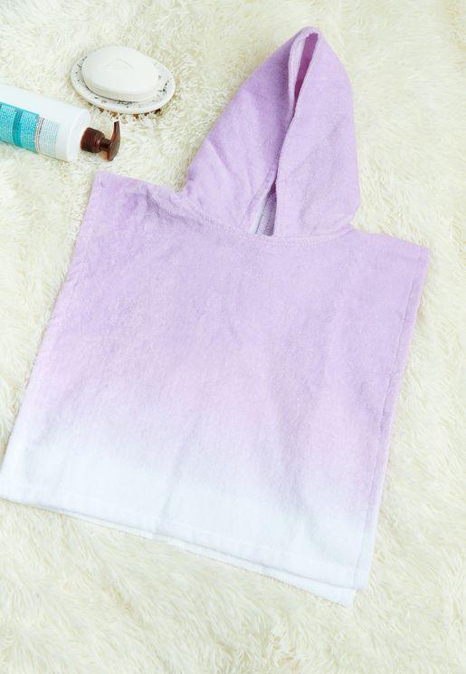 Kids Violet Hooded Beach Towel