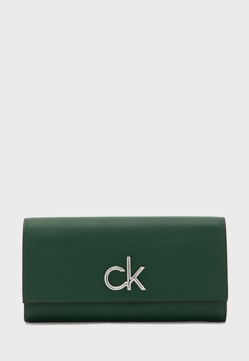 Logo Trifold Purse