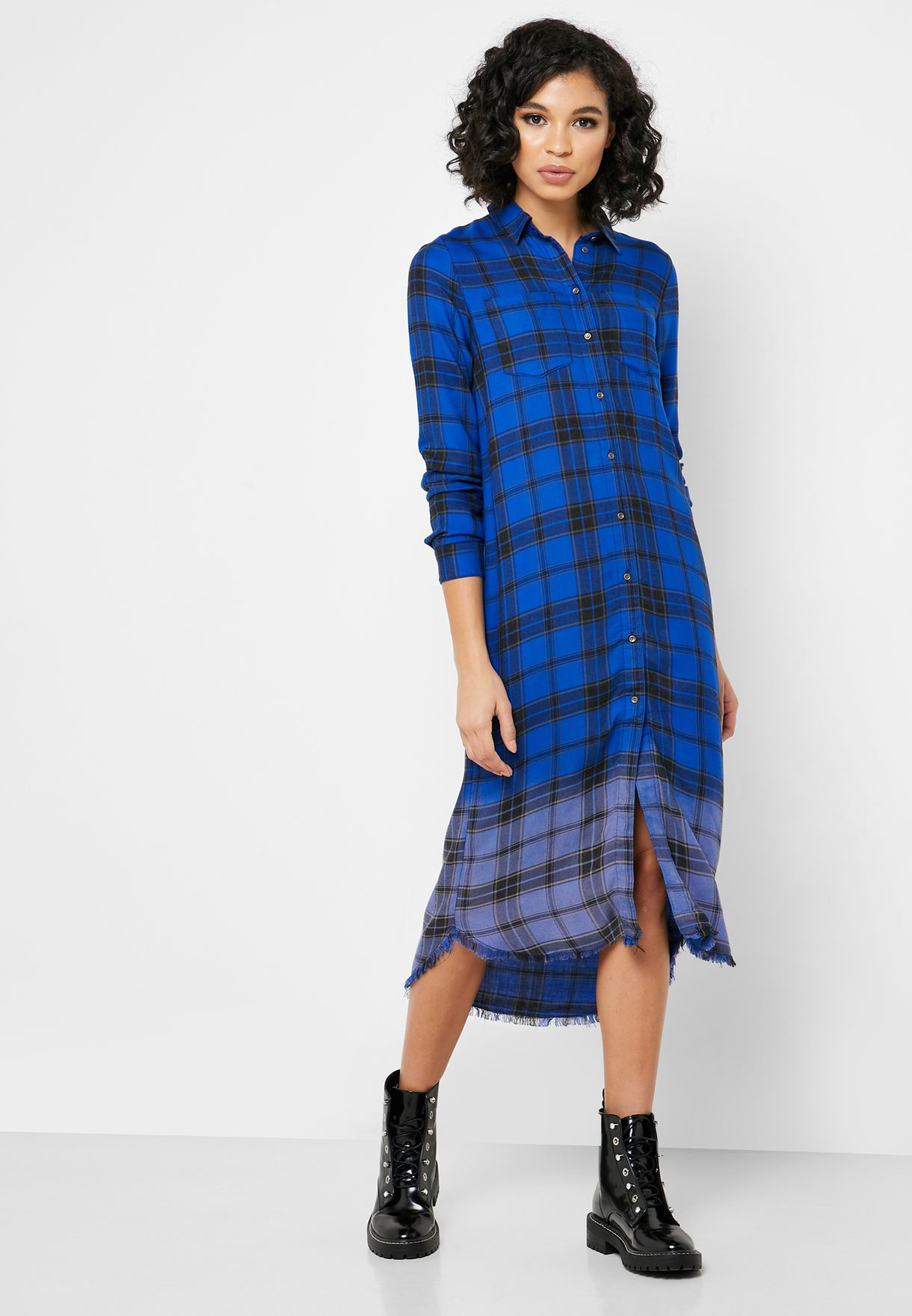 فستان كاروهات