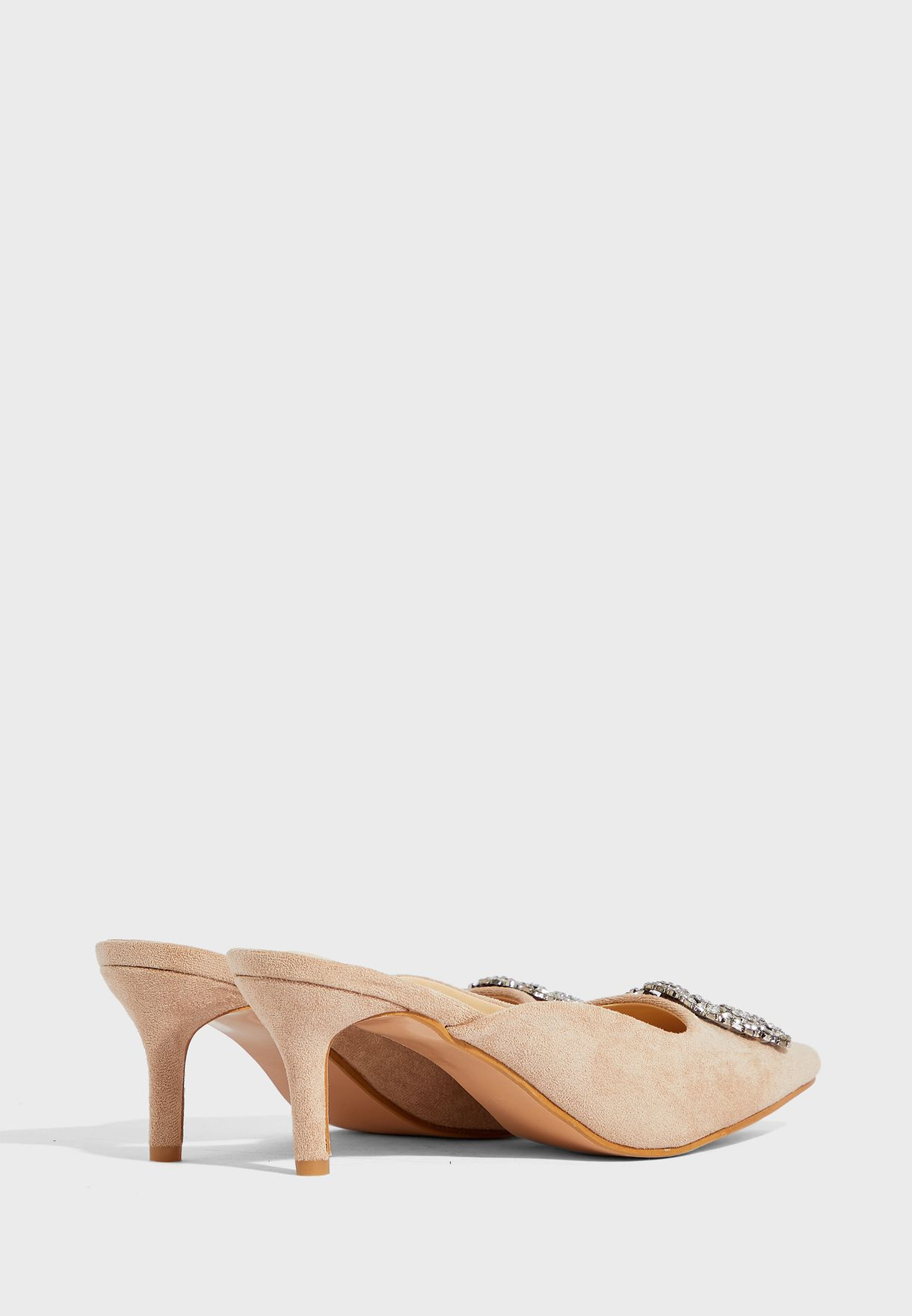 Diamante Trim Mules