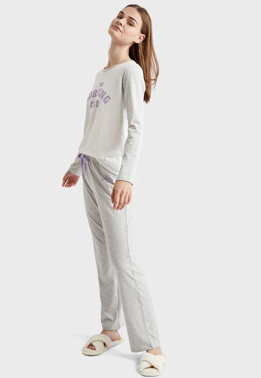 Long Sleeve Top & Pyjama Set