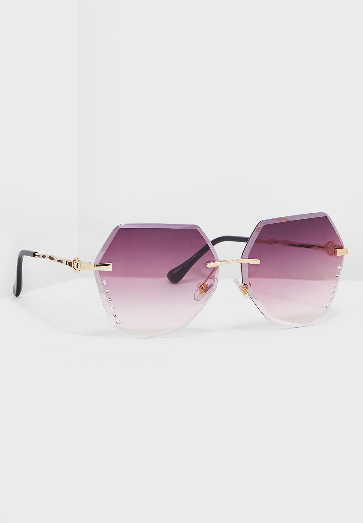 34be352842 Shop Ginger pink Angled Sunglasses With Ombre Lens SUNH12-PNK for Women in  Oman - 11096AC48GDP