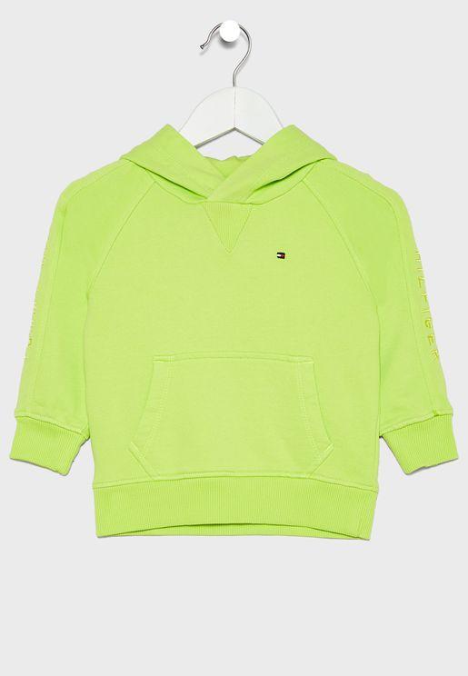 Kids Sleeve Logo Hoodie