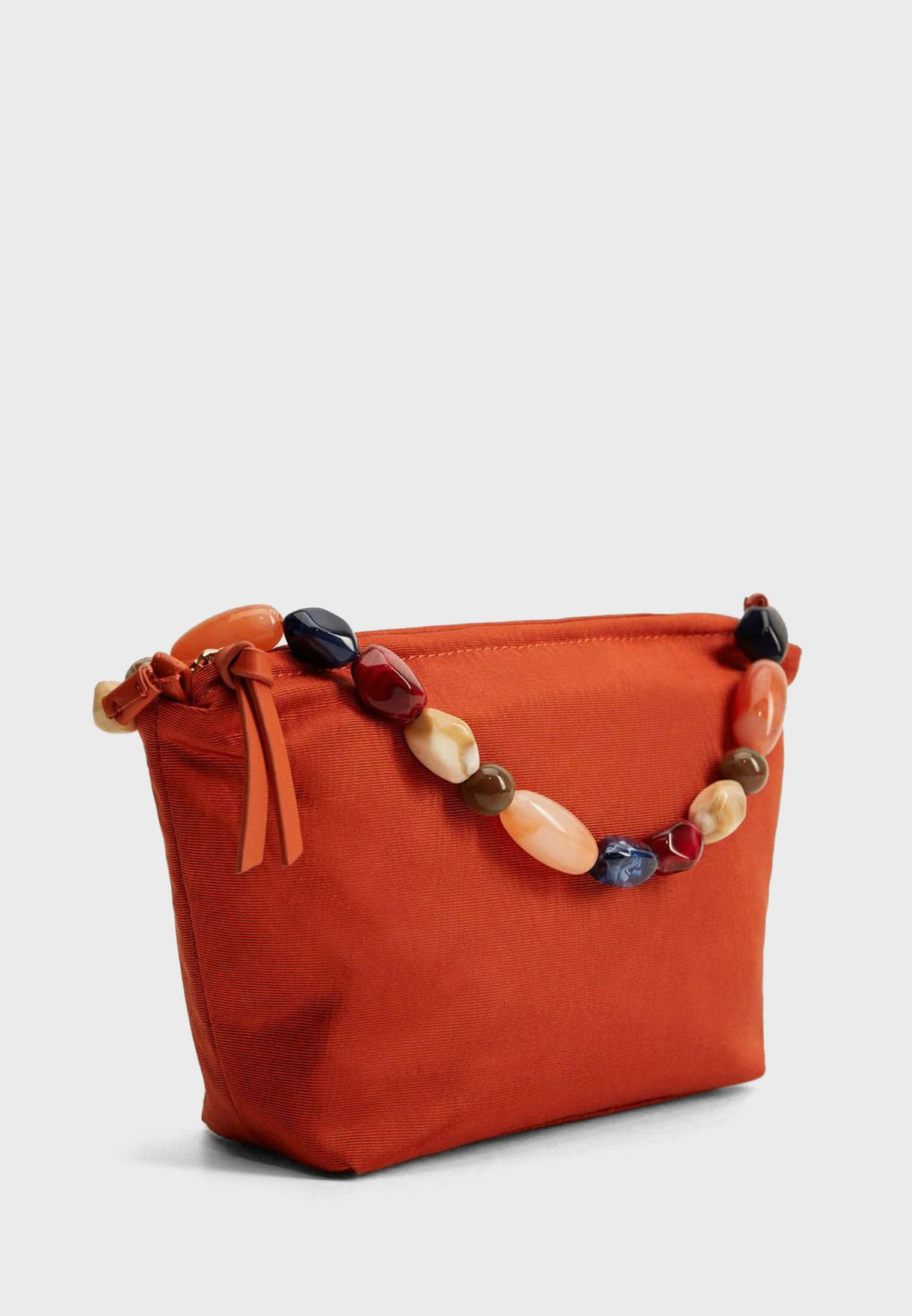 Crystal Beads Strap Tote