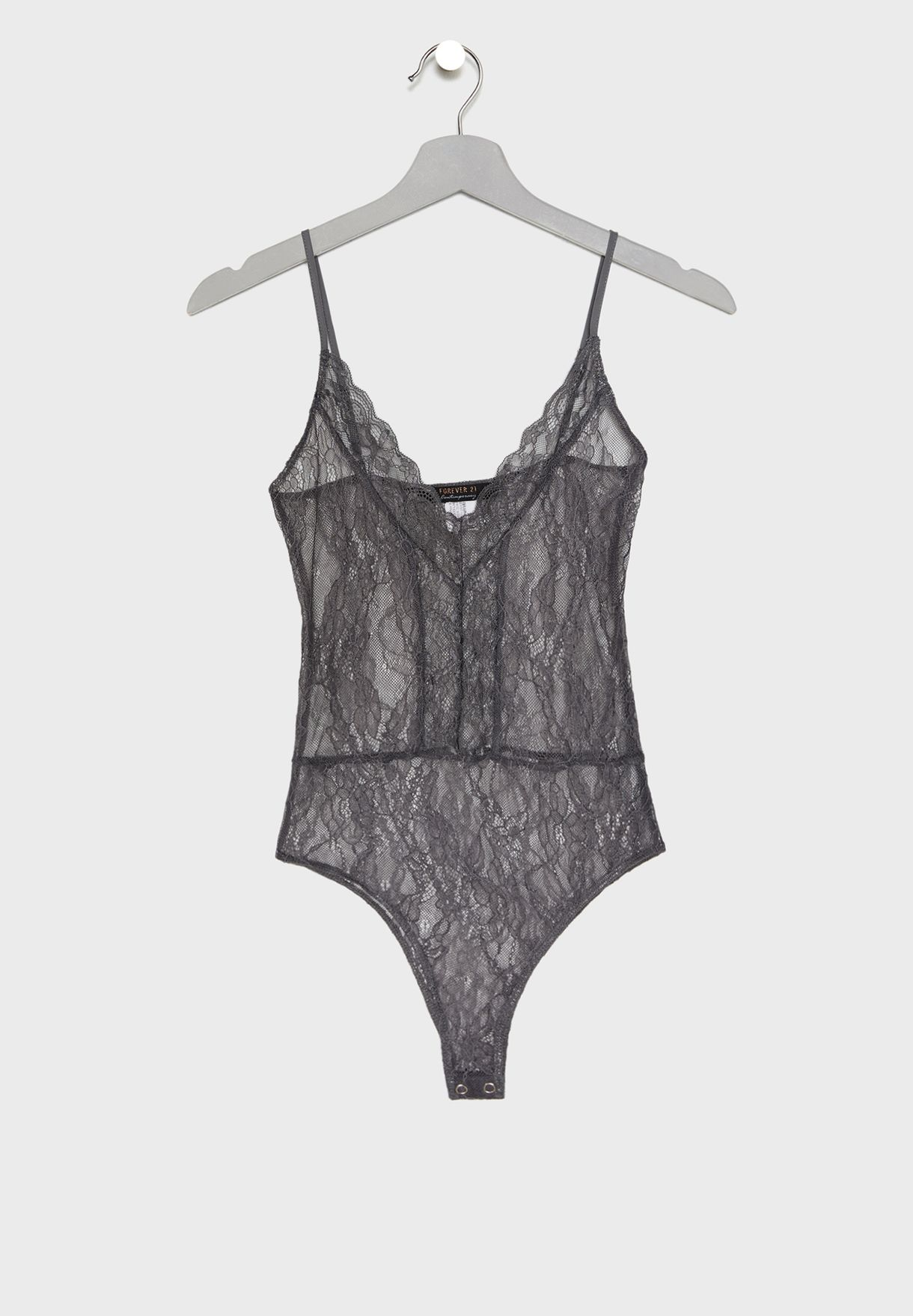 27733ee05f Shop Forever 21 grey Sheer Lace Body for Women in Qatar - 20008AT48NQP