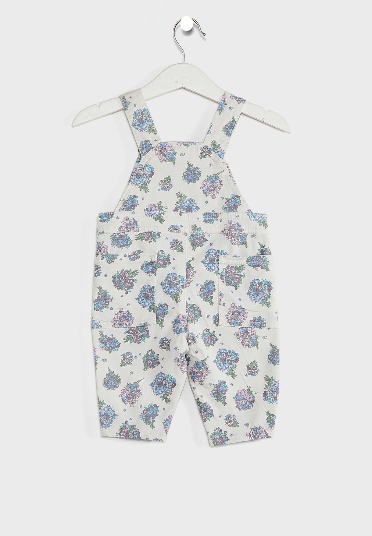 Infant Floral Print Romper