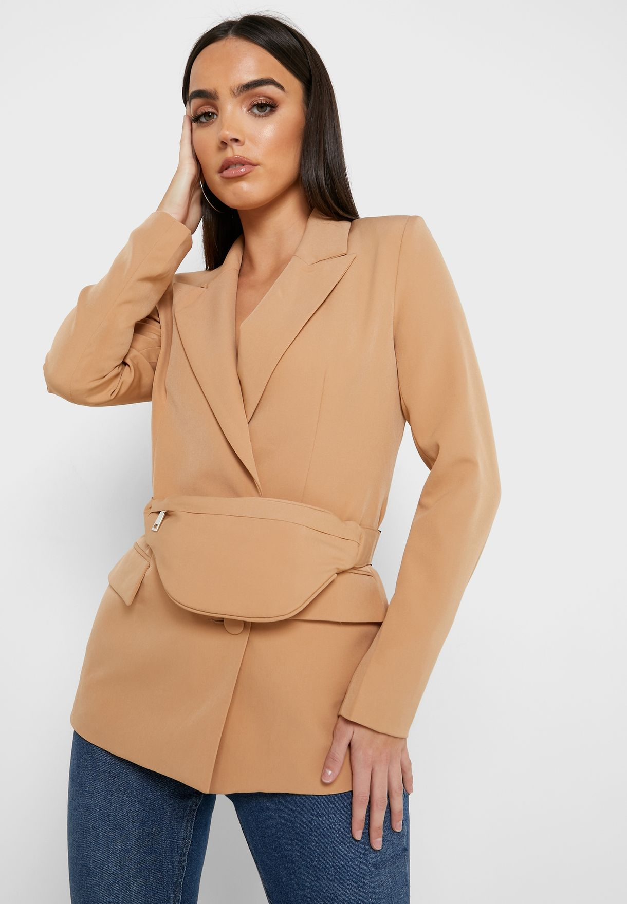 Tailored Blazer with Bum Bag Co-Ord